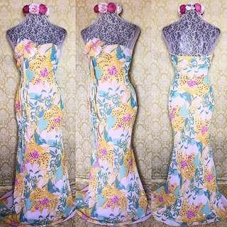 floral gown (with sequins)