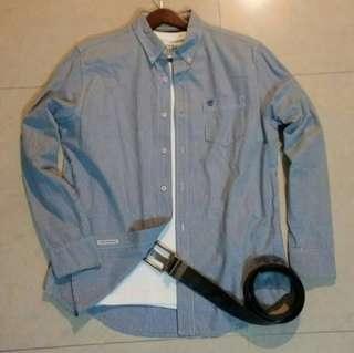 🚚 正品Timberland  男女可穿格紋長袖襯衫S