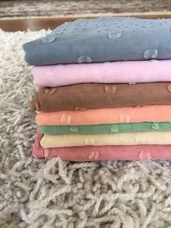 Pastel Coloured Bawal Viral Naelofar Fiona Inspired