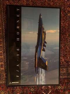 Framed poster blue angels f-18 hornet Boeing fighter