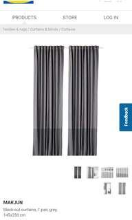 Ikea marjun total black out Curtain