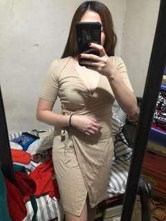 F21 wrap around dress