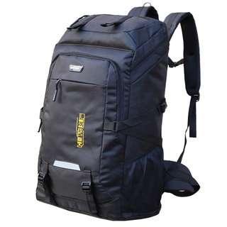 70L Airborne Black Travel Backpack Haversack Bag - New