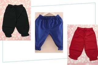 女童薄長褲 (3色)