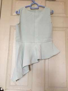 The Closet Lover pale green peplum top