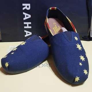🚚 男鞋 休閒鞋 平底鞋 寶藍色旗幟圖案