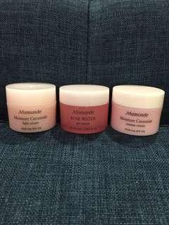 Mamonde Moisture Ceramide Intense Cream / Light Cream, Rose Water Gel Cream 15ml #BEAUTY50