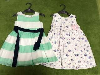 Almost new worn once carters pumpkin patch dress 2t 18m 24m