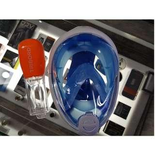 [Original] Tribord DECATHLON EASYBREATH Full face SNORKEL MASK - Blue (size S/M)
