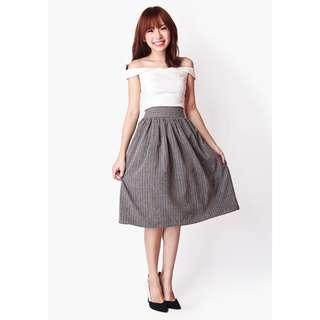 Aforarcade the notebook suit skirt, dark grey