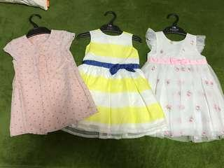 Almost new carters little me cadet rouselle dress 18m 24m