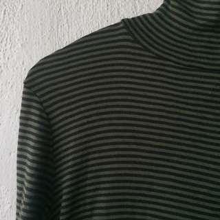 Stripe Turtleneck Top