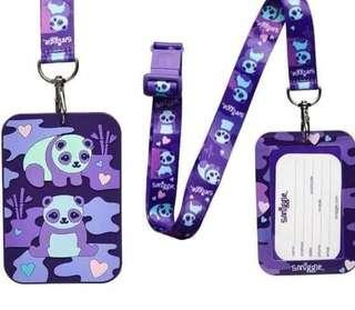 Smiggle now you see lanyard bus pass (purple)