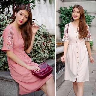 *BNWT* Lollyrouge - Lotus Tapestry Dress (Peach)