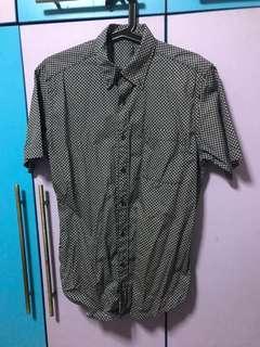 Dark blue collar T-shirt