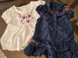 PRELOVED GUESS APPAREL BUNDLE OF 2!!! (12MOS)
