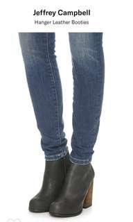 美國品牌 全新牛皮Booties Jeffrey Campbell Hanger Leather Booties
