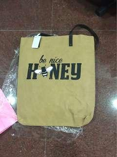 6ixty8ight - Be Nice Honey Totebag