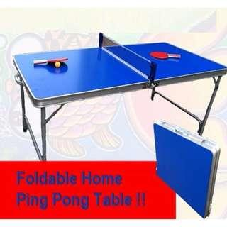 Foldable Table Tennis Table/ Ping Pong Table - New
