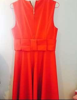 Kate Spade Red Dress Bow Back Size US 4