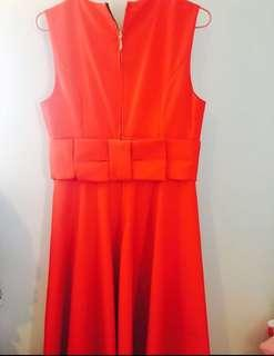 Kate Spade Bow Back Red Dress Size US 4