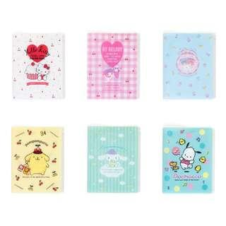 [PO] Sanrio Japan Sanrio Characters 6 Pocket File with A4 Fastener