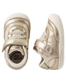 Stride Rite shoes US 4.5 jazzy gold