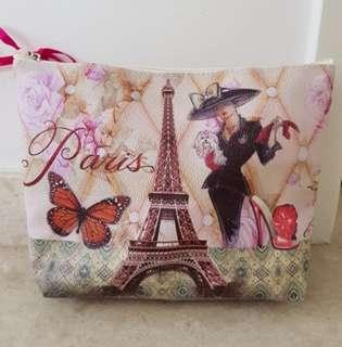 Spring In Paris Pouch / Clutch / Toiletries Bag