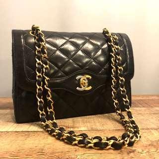 Authentic Chanel Rare Double Flap Paris Limited Edition Classic Bag w 24k Gold Hardware