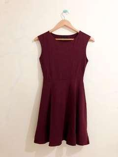 F21 Maroon Dress