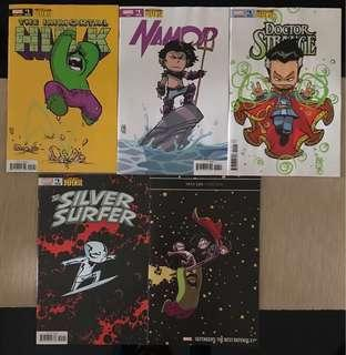 The Defenders: The Best Defense (All Variant Covers by Skottie Young) - Marvel Comics