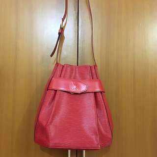 AUTHENTIC LOUIS VUITTON EPI RED SAC D'EPAULE PM SIZE