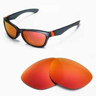 5d460bb375f Jupiter Fire Red POLARIZED Walleva Replacement Lenses for Oakley Jupiter  Sunglasses