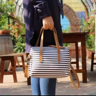 Stripe satchel