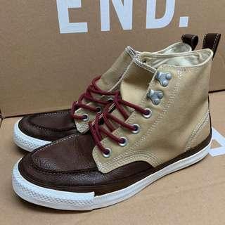 🚚 Converse 拼接皮革撞色設計高筒帆布鞋 US8.5#衣櫃大掃除