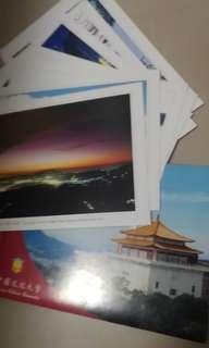 🚚 中國文化大學  校景明信片 一組8張
