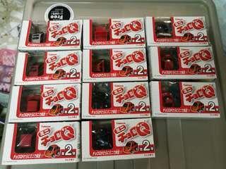 Takara Kabaya 2003 Mini Choro Q 食玩 盒蛋 共11盒(未開封)