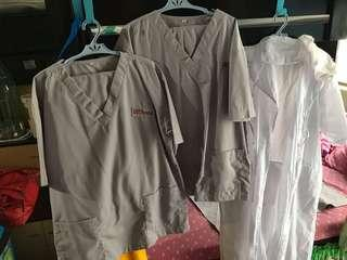 UST Nursing Scrubs Set
