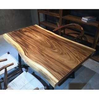 TSAW 041 South America Walnut Solid Wood Table office dining