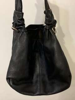 Authentic Jon Louis genuine leather Black shoulder bag