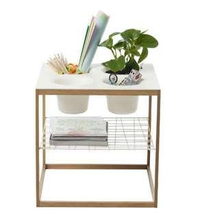 IKEA PS side table with plant pot holders