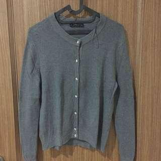 Grey cardigan outer by Zara
