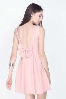 Fayth Charlotte Bow Dress in Blush