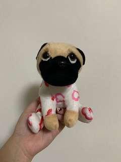 Pug in hearts costume