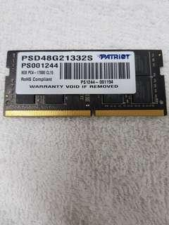 Laptop Ram 8GB PC4-1700 CL15