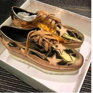 Gold Platform Shoe