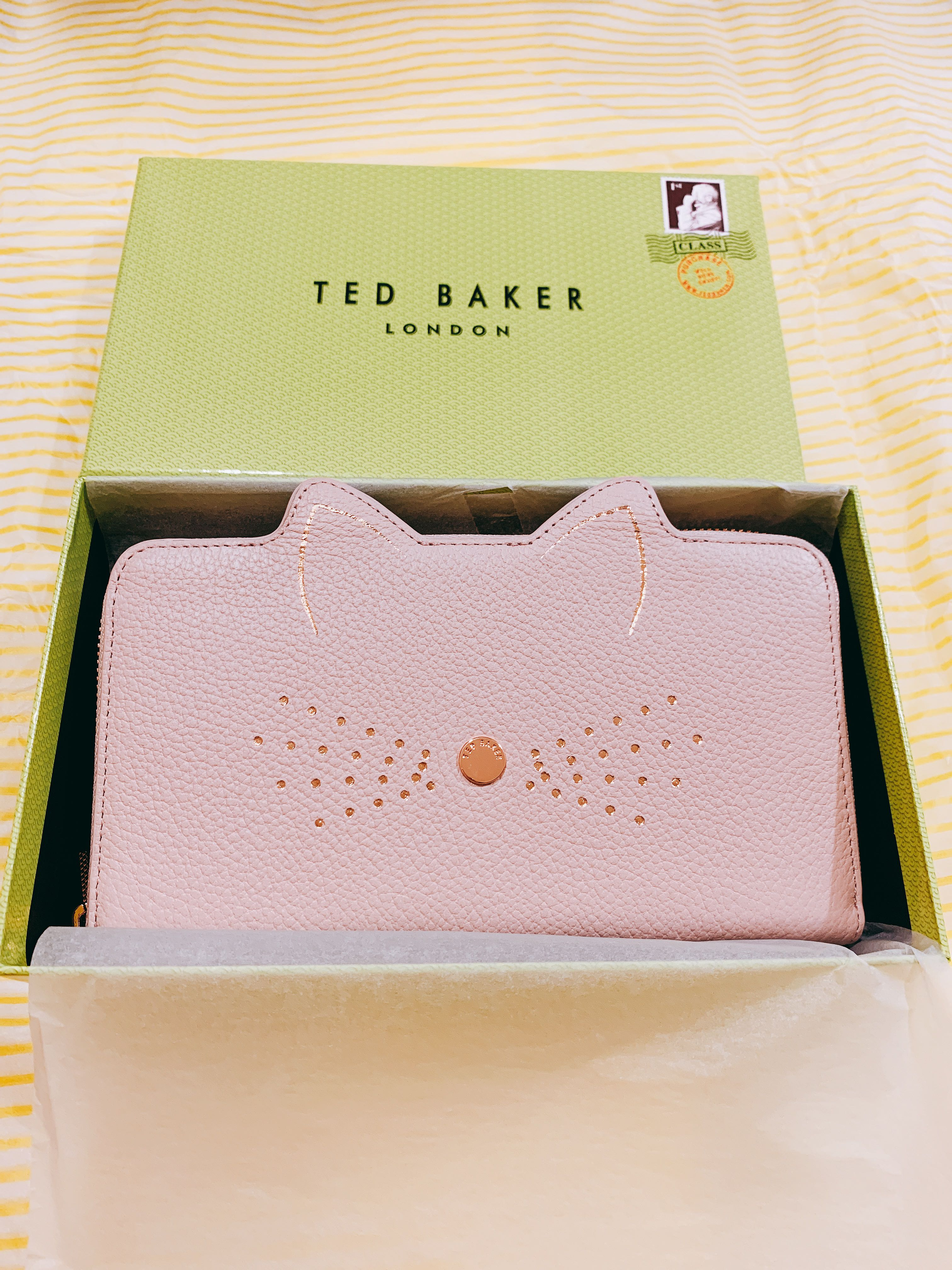 da58152b9185c3 🇬🇧 Ted Baker Serini Cat Whiskers Leather Matinee Purse