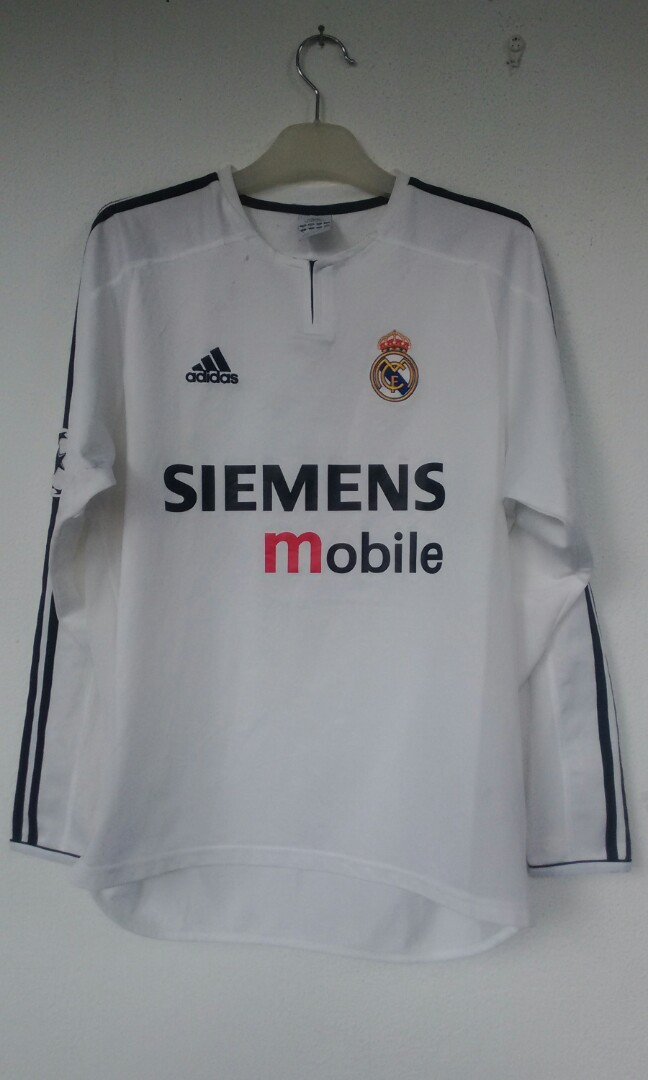 44b843d60b4 Adidas Fc Real Madrid 2003/04 Siemens Mobile Beckham 23, Sports, Athletic &  Sports Clothing on Carousell
