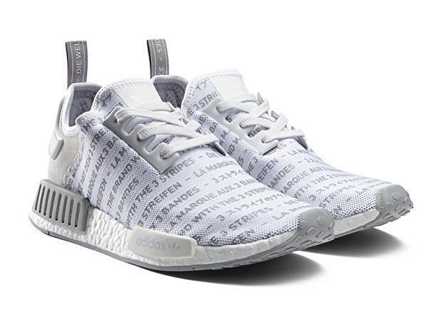 "3e04190ee1236 Adidas NMD Primeknit R1 – ""Three Stripes"" White"