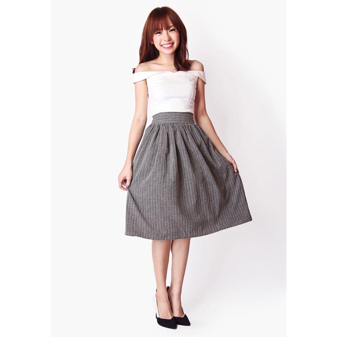 b098b4ff8e4eb2 Aforarcade the notebook suit skirt, dark grey, Women's Fashion ...